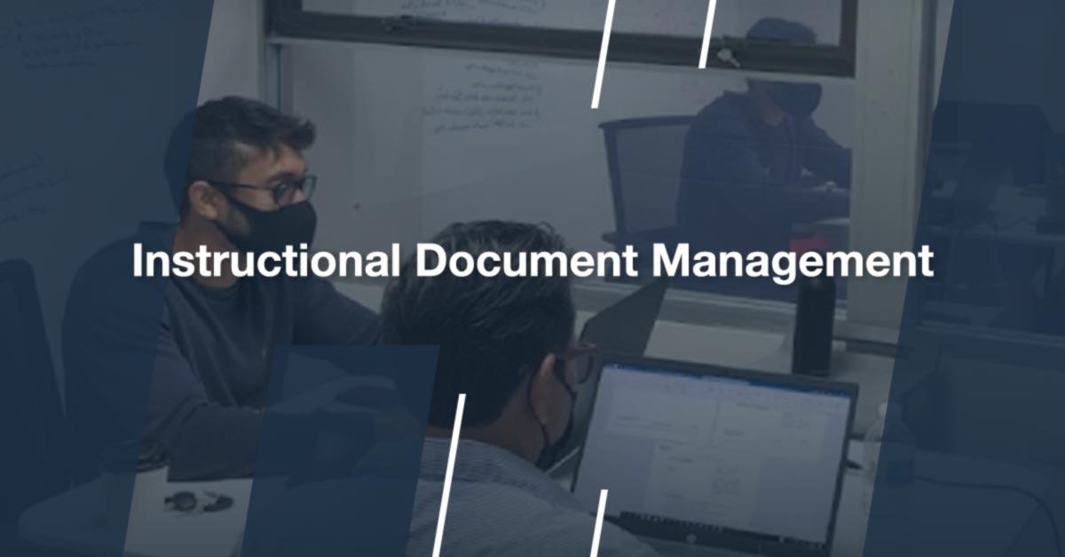 Instructional Document Management Process